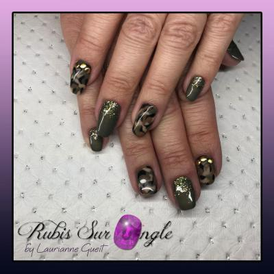 Rubis Sur Ongle Manucure Camouflage