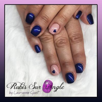 Rubis Sur Ongle Manucure Nail Art coeur