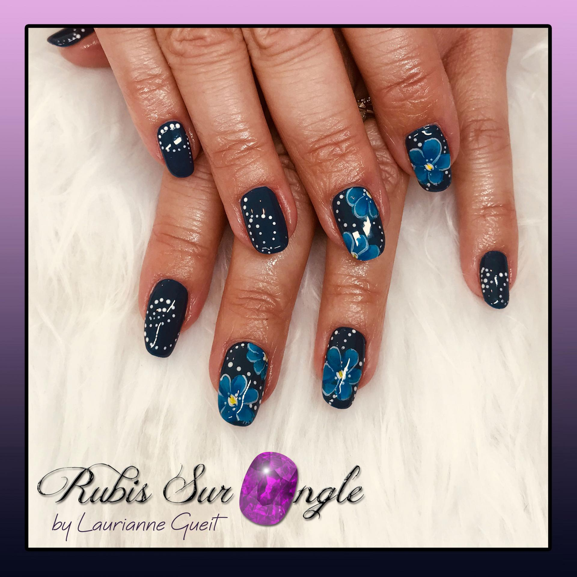 Rubis Sur Ongle Manucure nail art One Stroke